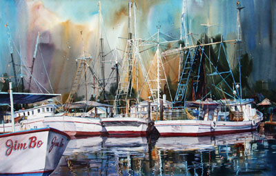 """Trawlers at Rest"""
