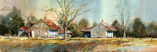 """Cajun Cottages Panorama"""